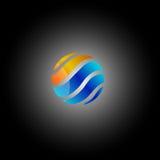 Rond kleurrijk embleem of pictogram Stock Fotografie