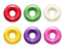 Rond kleurrijk hard geplaatst suikergoed royalty-vrije illustratie