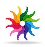 Rond kleurrijke handen Royalty-vrije Stock Afbeelding