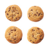 Rond koekje met chocolade royalty-vrije stock fotografie