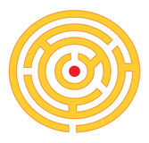 Rond labyrint stock afbeeldingen