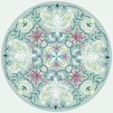Rond Lacy Pattern Indian Style Mandala Stock Afbeelding
