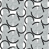 Rond lines geometry seamless pattern Royalty Free Stock Image