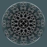 Rond Ornamentpatroon Royalty-vrije Stock Afbeelding