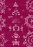Rond Ornamentpatroon met patroonborstel Royalty-vrije Stock Fotografie