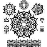 Rond Ornamentpatroon met patroonborstel Stock Afbeeldingen