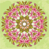 Rond patroon - abstracte bloemenachtergrond stock illustratie
