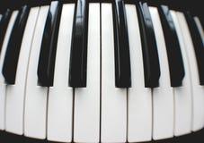 Rond pianotoetsenbord Stock Foto