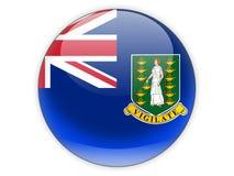 Rond pictogram met vlag van maagdelijke eilanden Britten royalty-vrije illustratie