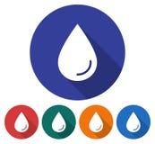 Rond pictogram van een waterdaling vector illustratie