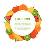 Rond sappig fruitkader Stock Foto