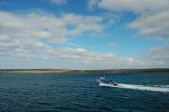 Rond Seymour Eiland, de Galapagos. royalty-vrije stock afbeelding