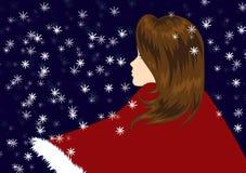 Rond sneeuwend allen royalty-vrije illustratie