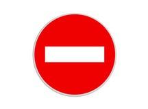 Rond teken Geen Ingang Royalty-vrije Stock Afbeelding