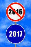 Rond tekennieuwjaar 2017 Royalty-vrije Stock Afbeelding
