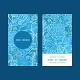 Rond vertical de texture florale bleue de champ de vecteur Photo stock