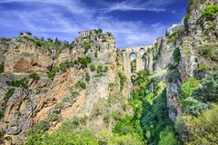 Ronda, Ισπανία στη γέφυρα Puento Nuevo Στοκ Εικόνες