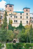 RONDA, ΙΣΠΑΝΙΑ - 4 ΦΕΒΡΟΥΑΡΊΟΥ 2014: Άποψη Palacio del Rey Moro, στοκ εικόνες