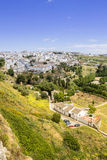 Ronda πανοραμική όψη Μια πόλη στην ισπανική επαρχία του laga MÃ ¡ Στοκ Φωτογραφία