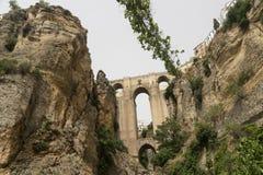 Ronda Andalucia, Spain: the bridge Royalty Free Stock Images