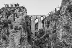 Ronda Andalucia, Spain: the bridge Stock Photography