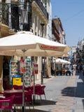 RONDA ANDALUCIA/SPAIN - MAJ 8: Gataplats i Ronda Spain på Royaltyfria Foton