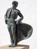 RONDA ANDALUCIA/SPAIN - MAJ 8: Staty av Cayetano Ordonez Royaltyfri Foto