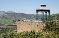 RONDA ANDALUCIA/SPAIN - MAJ 8: Synvinkel i Ronda Spain på Maj Royaltyfri Foto