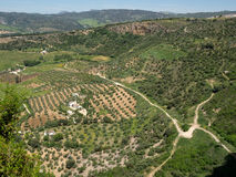 RONDA, ANDALUCIA/SPAIN - MAY 8 : View of the countryside from Ro Royalty Free Stock Images