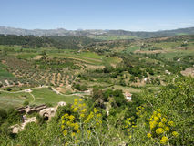 RONDA, ANDALUCIA/SPAIN - MAY 8 : View of the countryside from Ro Royalty Free Stock Photography