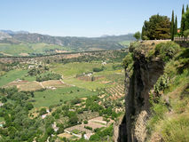 RONDA, ANDALUCIA/SPAIN - MAY 8 : View of the countryside from Ro Stock Photos
