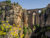 RONDA, ANDALUCIA/SPAIN - MAY 8 : View of the New Bridge in Ronda Stock Photography