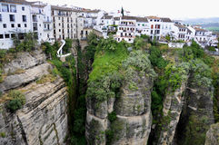 Ronda in Andalusia. The town of Ronda in Andalusia is located above a deep canyons royalty free stock photos