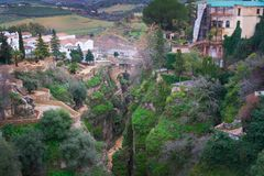 Old town, white village. Ronda, Andalusia, Spain. stock photography