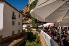 RONDA ANDALUSIA/SPANIEN - OKTOBER 08 2017: LITEN BY I RONDA BERG Royaltyfria Bilder