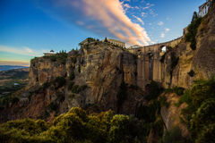 Ronda Arch Dam. Famous Archway in Ronda, Spain stock photography