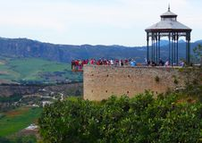 Ronda Balcony, Andalusia, Spain Royalty Free Stock Images