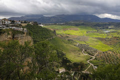 Ronda and beautiful valley in Andalusia, Spain Stock Photo