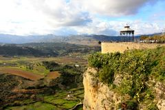 Ronda belvedere Andalusia Spain Stock Photo