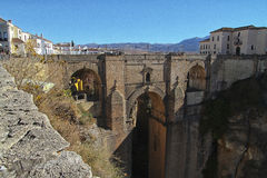 Ronda bridge. Famous bridge of Ronda, Spain Royalty Free Stock Image