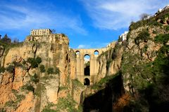 Ronda bridge, Andalusia, Spain Royalty Free Stock Photography