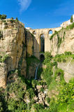 Ronda bridge and canyon, Ronda, Malaga, Spain. Royalty Free Stock Photo