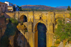 Ronda bridge in the evening. Royalty Free Stock Image