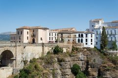 Ronda bridge travel in Andalusia Spain Europe stock photography