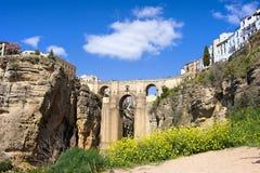 Ronda bro i Spanien Royaltyfria Bilder