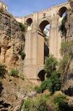 Ronda brug, Andalusia, Spanje. Stock Foto
