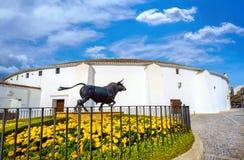 Ronda bullring. Malaga province, Andalusia, Spain Royalty Free Stock Image