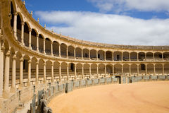 Ronda Bullring in Spain. Bullring in Ronda, opened in 1785, one of the oldest and most famous bullfighting arena in Spain royalty free stock image