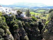 Ronda byklippor i Andalusia, Spanien Royaltyfria Foton