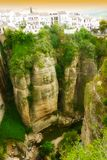 Ronda, canion, Andalusia, Spanje Stock Fotografie